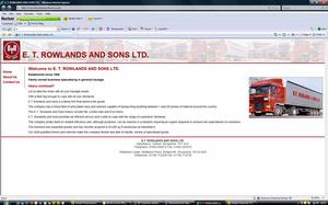 E T Rowlands & Sons Limited website image