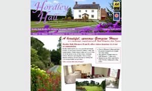 Hordley Hall B and B website image