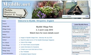 Myddle Village Community Site website image