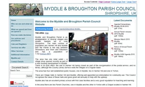 Myddle and Broughton Parish Council  website image