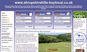 Shropshire Hills Buy Local website image